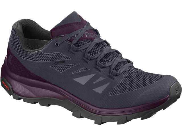 Salomon W's OUTline GTX Shoes Graphite/Potent Purple/Potent Purple